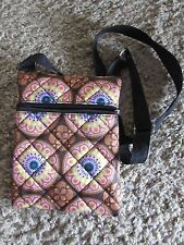 """NEW  6"""" x 8"""" Adjustable strap cross body purse bag with 3 zippered pouches"""