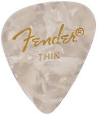 Fender 351 Premium Celluloid Guitar Picks - WHITE MOTO, THIN 144-Pack (1 Gross)
