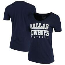 90491286c Dallas Cowboys Women s 2016 Navy Blue Practice Glitter V-neck T-shirt L