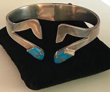 Turquoise Bangle Bracelet .925 Sterling Silver &
