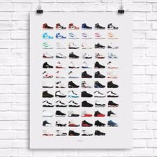 Air Jordan Originals Poster - 1 2 3 4 5 6 7 8 9 10 11 12 Nike Retro Remaster