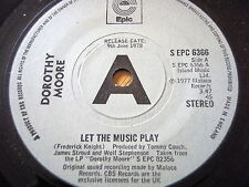 """DOROTHY MOORE - LET THE MUSIC PLAY  7"""" VINYL PROMO"""