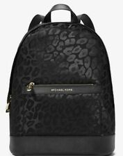 MICHAEL KORS Morgan Medium Leopard Jacquard Backpack NWT
