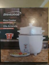 Brentwood 4 Cup Rice Cooker/Non-Stick with Steamer