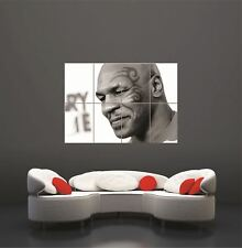 Mike Tyson Boxer Boxing Sport Portrait B&W Tattoo Giant Art Print Poster