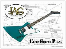 Project Plan/Drawing to build this EXPLORER type electric guitar  P021