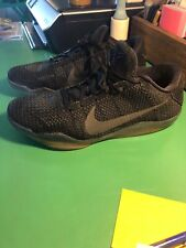 newest ac0be 0c892 New ListingNike Kobe XI 11 Elite Low SPACE TRIPLE BLACK BLACKOUT 822675-001  Size 12 Rare