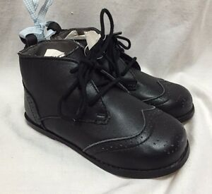 Janie and Jack Wingtip Brogue Oxfords Toddlers 8 Black Leather Occasions Shoes