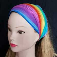Rainbow Peace Gay Pride LGBTQ Hair Head Band Ladies Fashion Bandana Chemo Wear