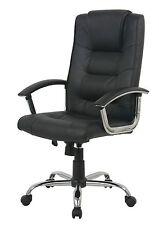 Business pivotante avec façade en cuir ordinateur chaise de bureau en noir relax dos tension