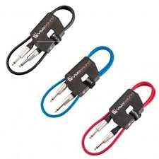 3 x Câble guitare Jack à Jack mono 6,35mm / Instrument / Câble patch / 1m Multi