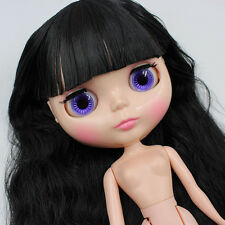 "Takara 12/"" Neo Blythe Sky Blue Hair Nude Doll  from Factory TBO135"