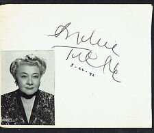 Sophie Tucker (d. 1966) signed autograph 4x5 Page: The Last of the Red Hot Mamas