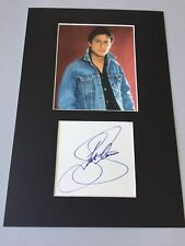 Shakin Stevens in-person Signed Card/PASSEPARTOUT 20x30 RARITY!!!