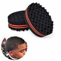 1/2x Barber Hair Brush Sponge Locking Afro Curl Twist Dreads Coil Wave Barber