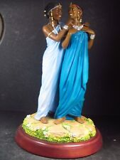 Blackshear Ebony Visions Sisters Forever A Time To Share w/ Box & Coa