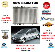 FOR PEUGEOT 307 3A/C 1.4 1.6 2.0 16V HDi 2000> NEW RADIATOR ** OE QUALITY **