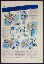 Modern Streamlined BIRDHOUSES Design PLANS 1946 Sparrow