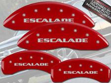 "2007-2020 Cadillac ""Escalade"" Front + Rear Red MGP Brake Disc Caliper Covers 4pc"