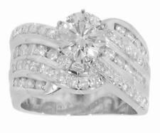 3.27 ct. TW Round Cut Diamond Engagement Ring Channel Setting