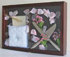 Keepshake Box Display Case Shadow Box for Wedding Guest Books, Pens -Fc09-