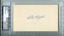 Pete Rozelle Signed Index Card 3x5 HOF Autographed PSA/DNA #83339054