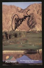 Gil Morgan signed autograph PGA West Scorecard