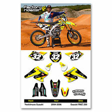 2004 - 2006 SUZUKI RMZ 250 YOSHIMURA Dirt Bike Graphics kit Motocross Decal
