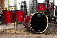 DW Performance 5pc 2 Up/2 Down Drum Set Cherry Stain