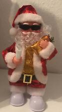 Weihnachtmann Figur Singend Happy Xmas Kerze Santa Claus Nikolaus 29 cm