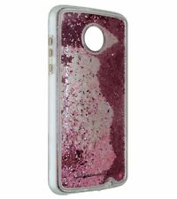 Case-Mate Naked Tough Waterfall Case Cover Moto Z2 Play- Clear / Pink Glitter