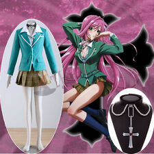 Athemis New Akashiya Moka Suit Dress Necklace Rosario Vampire Cosplay costume