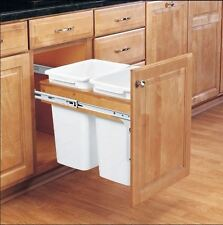 """2 Pull Out Waste Container Trash Can Bin Door Mount Kit 1.5"""" Face Frame Cabinet"""