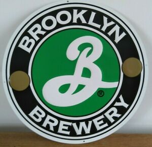 Sign - Brooklyn Brewery, New York, USA, Metal ,Beer,Home Pub, Logo, Rare Import