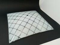 Vintage Mid-Century Modern 11.5 in Starburst Square Glass Ceiling Light Shade