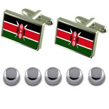 Shirt Dress Studs Kenya Flag Cufflinks