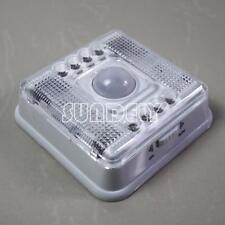 Super bright Wireless PIR Motion Sensor 8 LED Battery Powered Night Light White