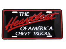 "The Heartbeat of America Chevy Chevrolet Truck 6""x12"" Aluminum License Plate Tag"