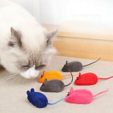 New listing Funny Cat Toy Interative Squeaker Flocking Realistic VoiceFun Mouse Pet Supplies