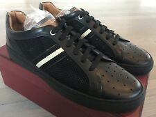 550$ Bally Herk Black Leather and Nylon Sneakers size US 11
