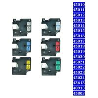 Label Tape Compatible For DYMO D1 LabelManager 100 LabelPoint 100 6/9/12/19MM