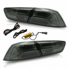 Custom Smoke Fiber Optic Sequential Led Taillights for 08-17 Mitsubishi Lancer