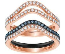 Swarovski 5372611 Lemon Ring Set, Blue, Mixed Plating Size 55 RRP$199