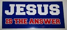 """Wholesale Lot of 6 Jesus Is The Answer Bumper Sticker Decal 3.75""""x7.5"""""""