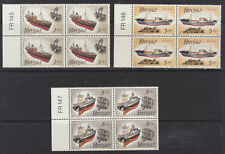 Faroe Islands 1987 Fishing, Ships, Trawler, Plate Blocks of 4, MNH / UNM