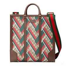 NEW GUCCI MEN'S CHEVRON WEB GG GUCCISSIMA SUPREME LEATHER TOTE SHOULDER BAG