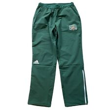 Adidas Ohio University OU Bobcats Mens Size L Green Squad Woven Track Pants NWT