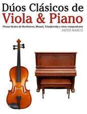 Dúos Clásicos de Viola and Piano : Piezas Fáciles de Beethoven, Mozart,...