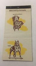 Vintage Matchbook Cover Matchcover Dog Boxer And Doberman Pinscher