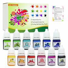 12 Color baño bomba jabón tinte - piel segura baño grado colorante para